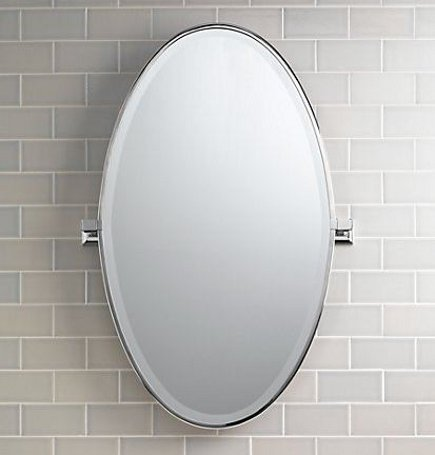 Dillon Oval Pivot Mirror From Restoration Hardware