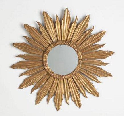gilded wood soleil mirror
