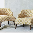 mid-century furniture - DwellStudio for Precedent modern Mallory chairs - Architectural Digest via Atticmag