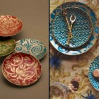 Fortuny decor - luxury Fortuny plates and bowls from L'Objet by Elad Yifrach - AD via Atticmag