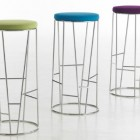 sculptural steel modern bar stools by Arik Levy for Bernhardt Design via Atticmag