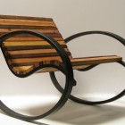eco-friendly modern pant rocking chair by Shiner International via Atticmag