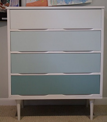painted dressers - gradient color painted dresser from Primitive & Proper via Atticmag