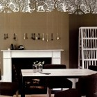 embellished walls - decorative contemporary wallpaper panel frieze - House & Garden via Atticmag