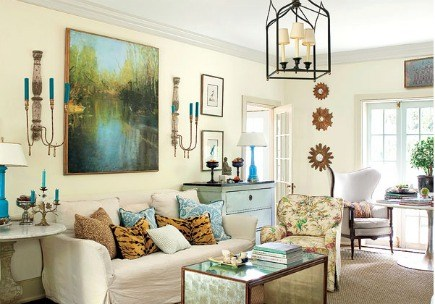 Layered Simplicity Living Room From Southern Style Book