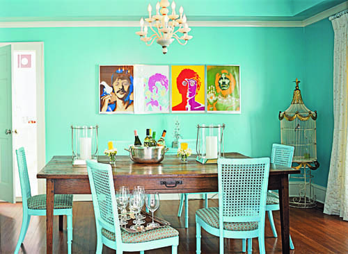 southern style - Beatles dining room from Southern Living Style via Atticmag