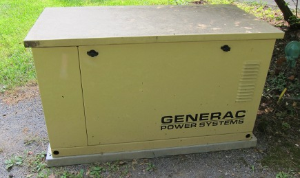 power outage - our generator that ran out of propane creating our power outage during hurricane Irene - Atticmag
