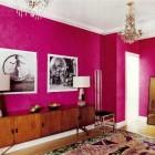 fuschia Venetian plaster foyer by Raphael de Cardenas - Elle Décor via Atticmag