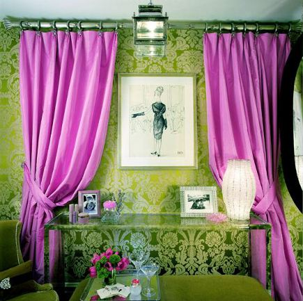 fuchsia and acid green room by Amanda Nisbet via Atticmag