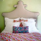 upholstered headboards - fancy shaped headboard with Pine Cone Hill quilt by Annie Selke - via Atticmag