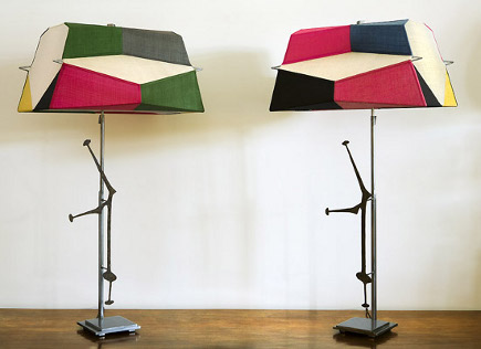 lampshade couture - Mr. Tower lampshades - Paola Napoleone via Atticmag