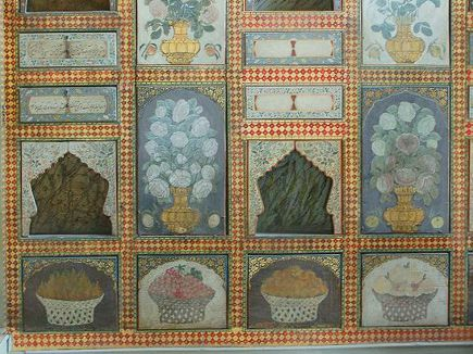 Anglo-Indian style - a wall in the Fruit Room of the Topkapi Palace in Istanbul, Turkey - flick via Atticmag