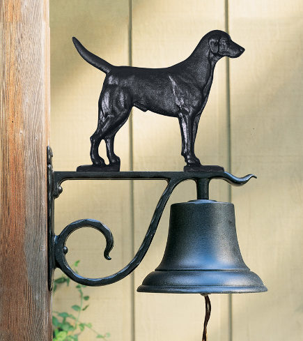 museum store gifts - dog motif door bell from the Winterthur Museum store via Atticmag