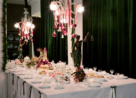 Royal Copenhagen's Christmas 2011 - overview of a Flora Danica Table - Royal Copenhagen via Atticmag