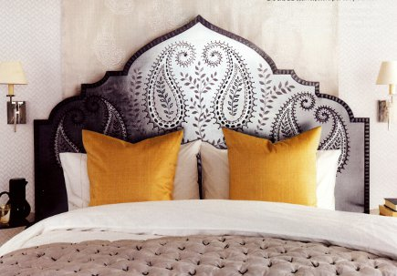 headboards - silver leaf and painted moorish arch headboard by Foale and Sons - Elle Decor via Atticmag