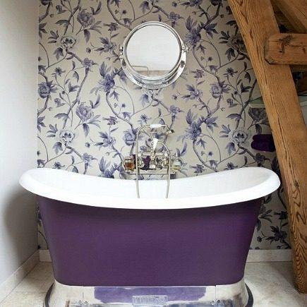 violet slipper Chariot bathtub by Chadder & Co UK via Atticmag