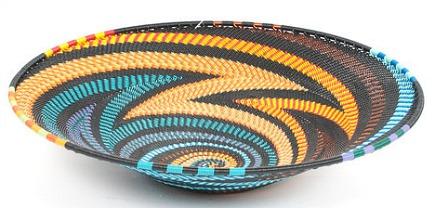 zulu wire art - Zulu telephone wire baskets from Hillary Thomas Design via Atticmag