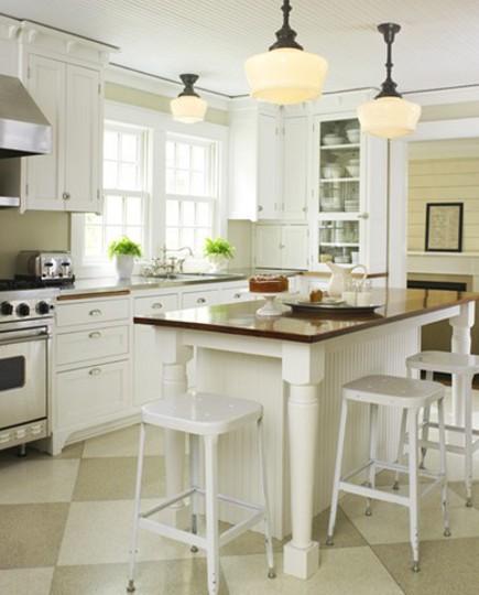 Checkerboard Floor Kitchens