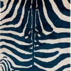 zebra carpets - indigo Imperial silk zebra Carini Lang carpet via Atticmag