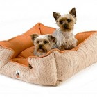 dog beds - custom reversible microsuede dog bed from Zoomies via Atticmag
