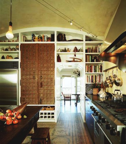 Spanish kitchen - view across spanish style kitchen with mosaic floor - Mosaicx Studio via Atticmag