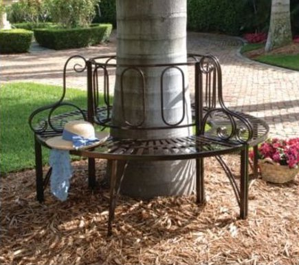 round tree bench - Toscano Roundabout circular tree bench - Home Depot