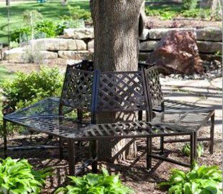 round tree bench - Longwood Gardens Wrought Iron Tree Surround - alloutdoorbenches.com via Atticmag