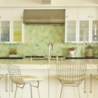 kitchen stool style - Bertoia stools in white kitchen - Bonesteel Trout and Hall via atticmag