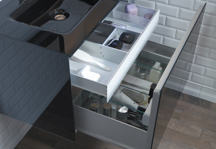Robern lighted vanity drawers