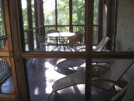 screened in porch before the swinging porch bed was added - Atticmag