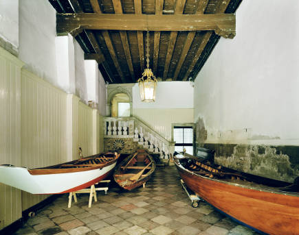 entry hall with boats from Venetian Interiors - Rizzoli Books via Atticmag
