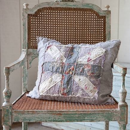 Union Jack flag - Union Jack Prairie pillow by Rachel Ashwell Shabby Chic Couture via Atticmag