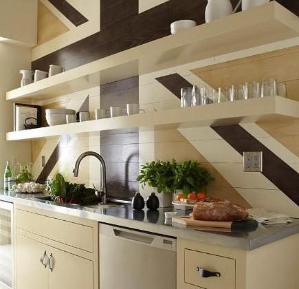 canvas color - 2012 San Francisco Decorator Showcase kitchen with Union Jack wall decor and Heath ceramics - remodelista via Atticmag