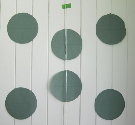 fish plate wall - paper templates used to hang china - Atticmag