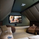 attic spaces - home movie theater by Electronic House via Atticmag