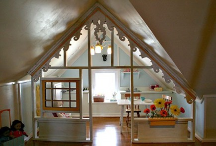attic spaces - gable turned into a children's playhouse - Ohdeedoh via Atticmag