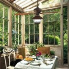 greenhouse rooms - vintage sunroom with lighted ceiling fan - Lamps Plus via Atticmag