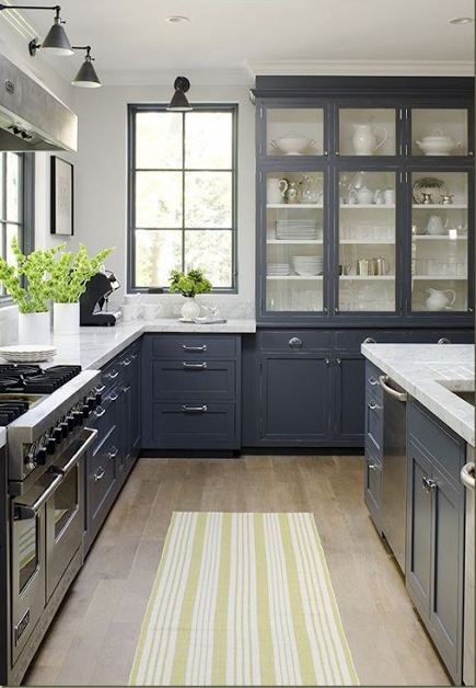 mega storage kitchen cabinets - large painted kitchen china storage cabinet with doors and drawers below by Jeanne Rapone - Decorpad via Atticmag