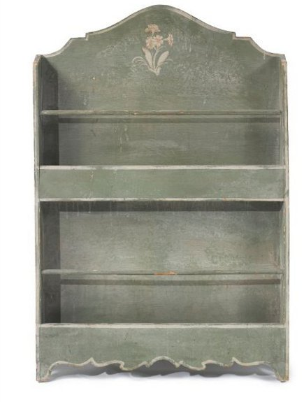 Brooke Astor estate auction - Provincial style blue-painted book case from the estate of Brooke Astor - Sotheby's via Atticmag