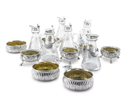 Brooke Astor estate auction - sterling silver table accessories from the estate of Brooke Astor - Sotheby's via Atticmag
