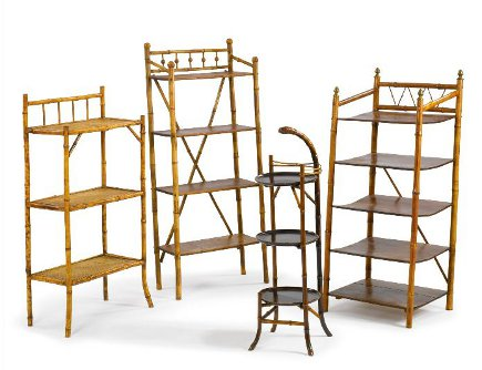 Brooke Astor estate auction - bamboo bookcases from the estate of Brooke Astor - Sotheby's via Atticmag