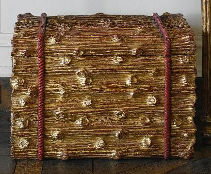 Brooke Astor estate auction - gilded stacked log style box from the estate of Brooke Astor - Sotheby's via Atticmag