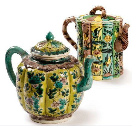 Brooke Astor estate auction - antique Chinese teapots from the estate of Brooke Astor - Sotheby's via Atticmag