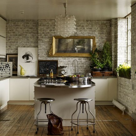 Exposed Brick Kitchen Walls