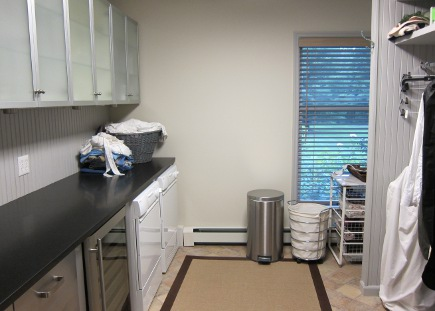 laundry room and mudroom before it was repainted - Atticmag