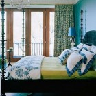 Vibrant Blue and Green Bedrooms