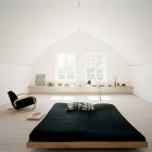 attic bedrooms - contemporary Scandinavian bedroom in an attic space - nordicthink via Atticmag