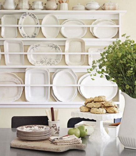 A Modern Kitchen Plate Rack Has Practical Use Heaps Of Decorative Character