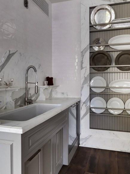 gray kitchens - gray and white Veranda magazine show house kitchen, or Windsor Estate kitchen - Veranda via Atticmag