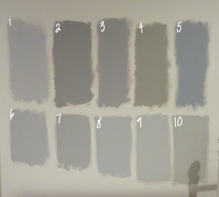 gray kitchens -10 benjamin moore paint swatches: Metro Gray, Stormy Monday, Silver Dollar, Silver Fox, Pigeon Gray, Silver Chain, Smoke Embers, Stonington Gray, Nimbus, Revere Pewter - name 5 things via atticmag
